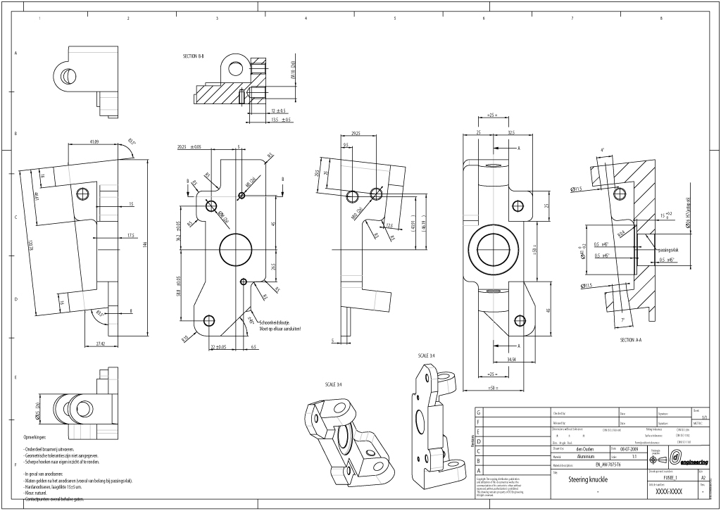 2D CAD drawing technical product